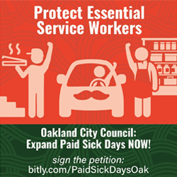 Protect Oakland workers! Urge City Council to expand paid sick leave now