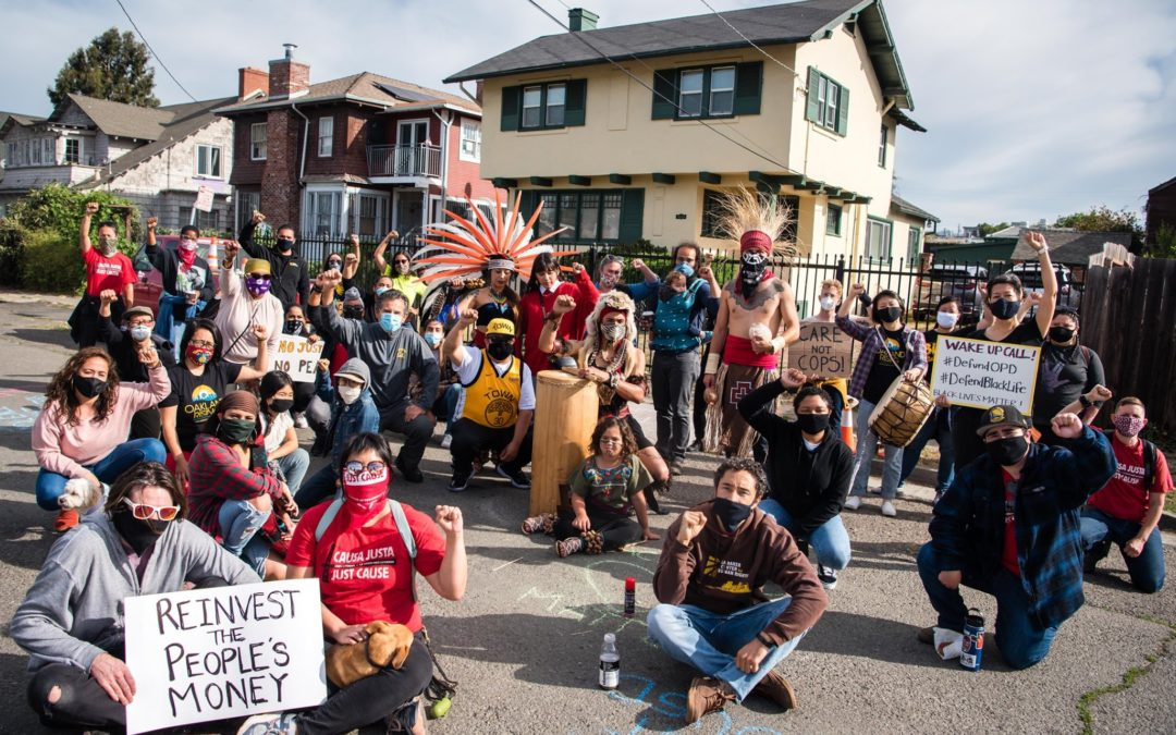 """KCBS RADIO: Protestors Dance, Drum To """"Wake Up"""" Oakland Officials, Call For Cuts To OPD"""
