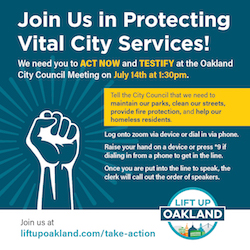TODAY! Help Lift Up Oakland's small businesses, essential service workers, and tenants