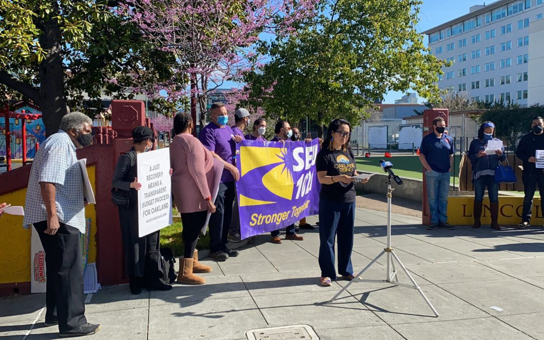 """Coalition of Progressive Labor & Community Groups Calls On The City of Oakland to """"Reinvest in Recovery—Show Us the Receipts"""""""
