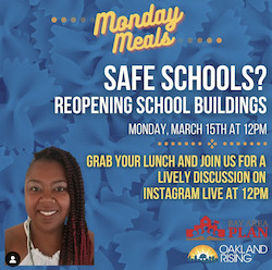 Monday Meals: Reopening School Buildings