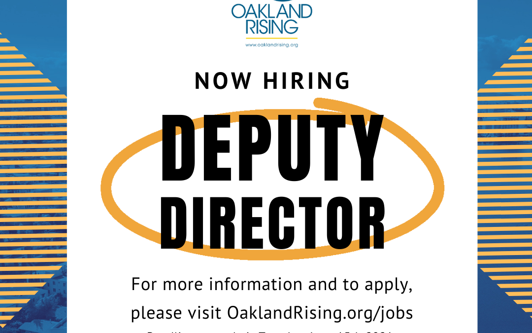 Our New Exec. Dir. Is….Plus A Call for Deputy Director Candidates