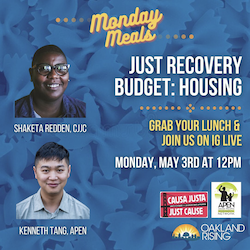 5/3 Monday Meals: Just Recovery Budget & Housing