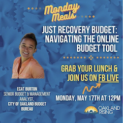 5/18 Monday Meals – Just Recovery Budget: Navigating Online Budget Tool