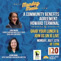 7/12 Monday Meals: Howard Terminal