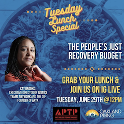 Tuesday Lunch Special: Just Recovery Budget with Cat Brooks
