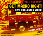 Community Advocates Demand City Council Protect Community Oversight in the Development & Implementation of MACRO—Despite Attempts to Silence Community Experts